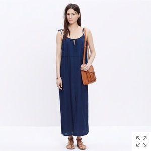 Madewell deep indigo tie-strap maxi dress